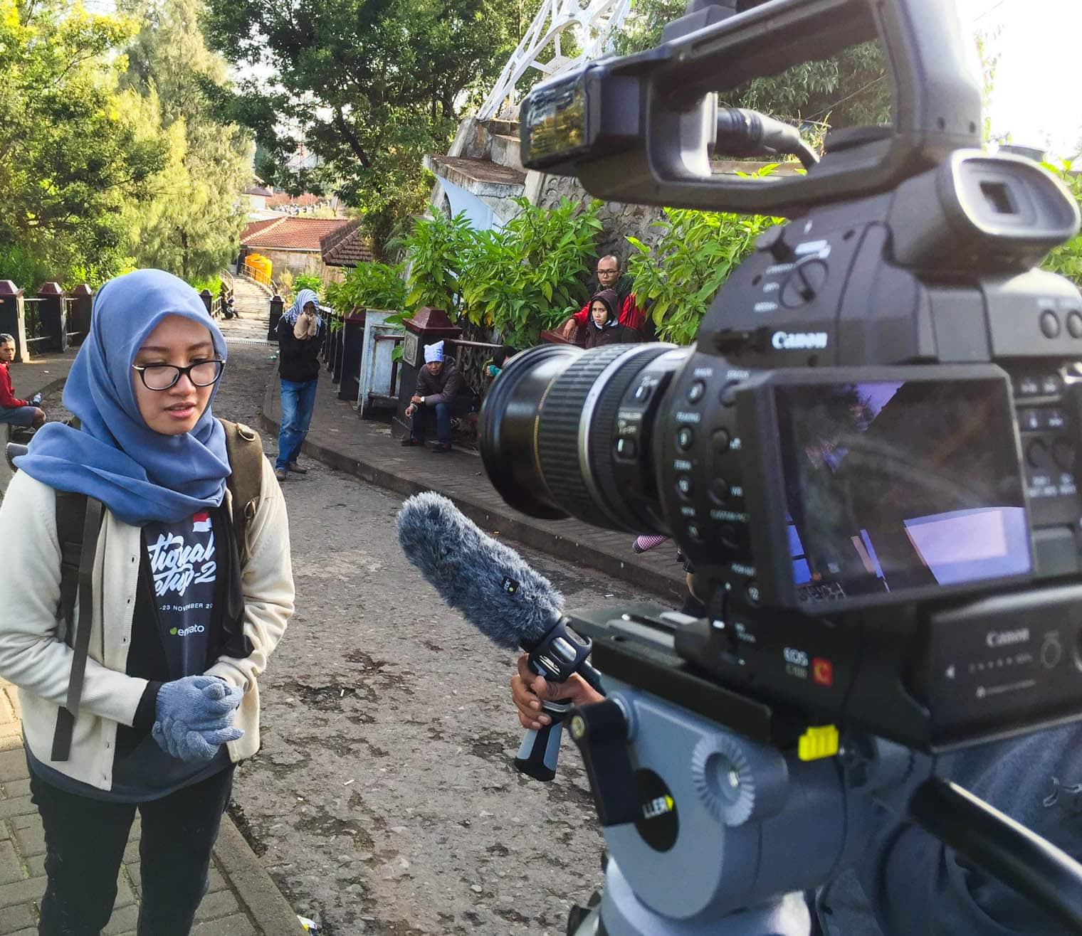 film crew in indonesia
